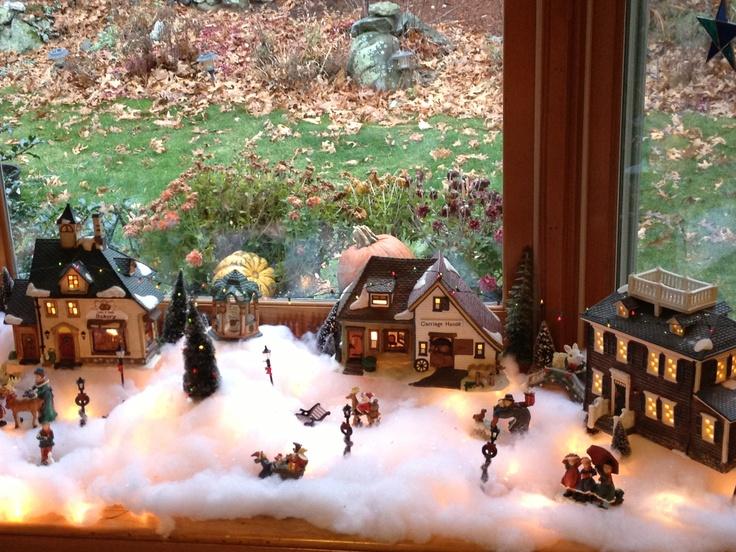 Old fashioned Christmas village | Holiday Decor | Pinterest