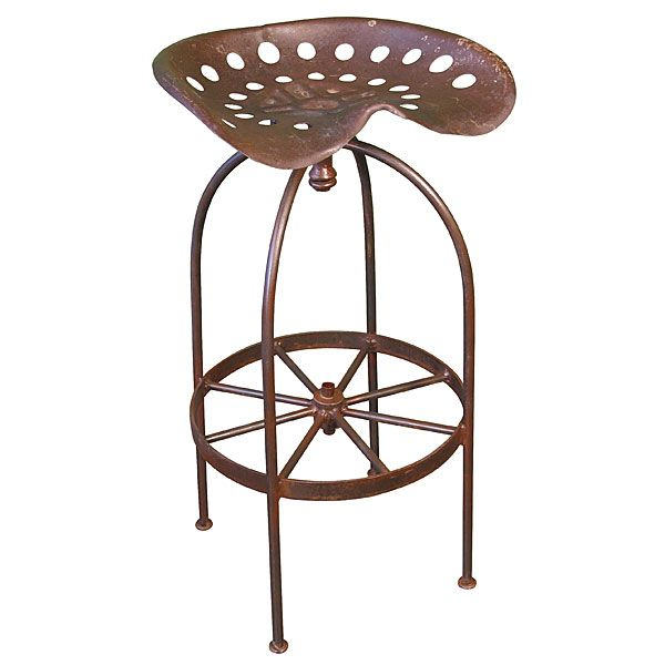 Iron Tractor Seat Bar Stools Set Of 2 Decorating