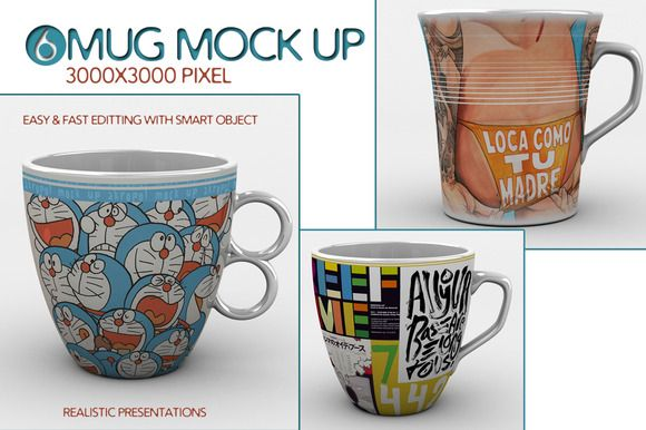 Check out 6 Mug Mock Up by akropol  on Creative Market