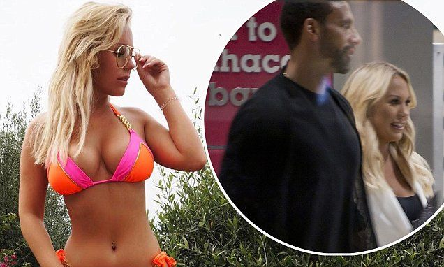 Kate Wright is spotted on a rare date night with 'beau' Rio Ferdinand