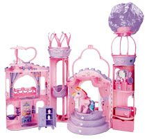 My Little Pony - Princess Rainbow Castle  The ultimate pony playset. This castle offers traditional dollhouse play with a sprinkle of  http://www.comparestoreprices.co.uk/childrens-gifts/my-little-pony-princess-rainbow-castle.asp