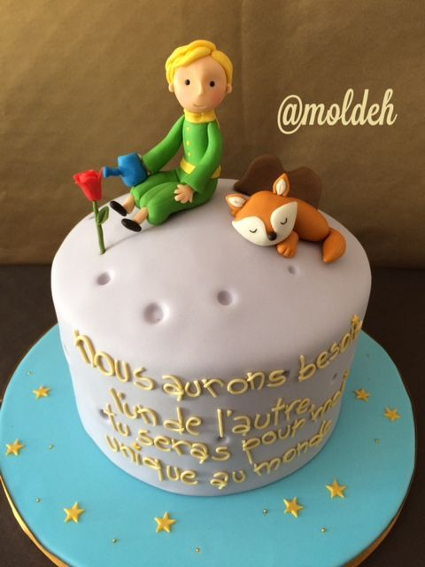 """Pastel de """"El Principito"""" // """"The Little prince"""" birthday cake"""