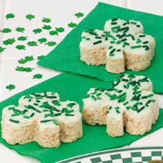 Clover Crispies Recipe...use gf rice krispies  My kids are going to love this :-)