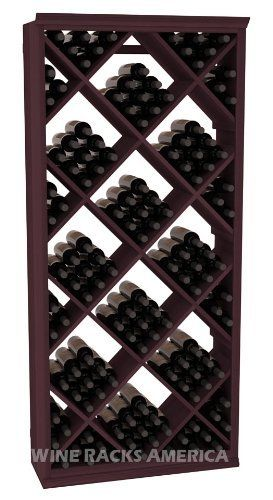 """Five Star Series: 200 Bottle Diamond Wine Cellar Storage Rack in Redwood with Burgundy Stain by Wine Racks America®. $1273.58. Made from eco-friendly wood sources in sustainable forests. 3 ¾"""" wide cubicles for bottle access.. Bottle capacity: 200 bottles (750ml). Industry 1-1/2"""" toe-kick keeps your wine off the floor.. 11/16"""" wood thickness. Designed for 750ml wine bottles. Some assembly required .. Choose From either Pine, Redwood, or Mahogany along with optional ..."""