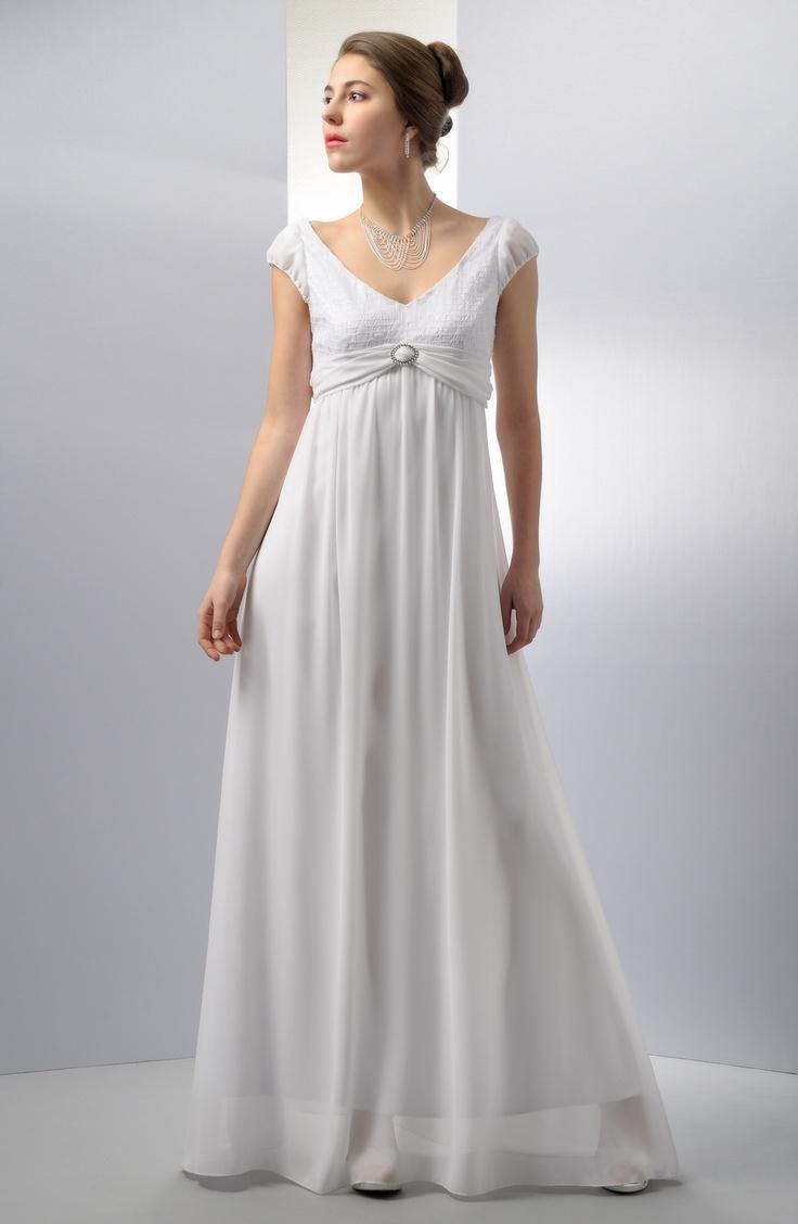 Elegantní dlouhé šaty se zajímavým řasením | Verino