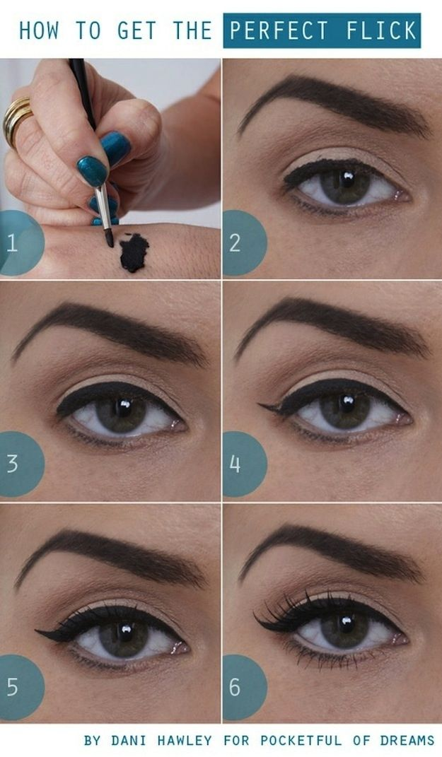 For a more toned-down look, try this teensy flick. | 15 Easy Hacks For Perfect Eyeliner