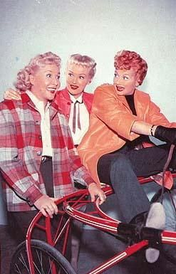 "Vivian Vance, Betty Grable, Lucille Ball in the ""Lucy-Desi Comedy Hour"" episode, ""Lucy Wins a Racehorse."""