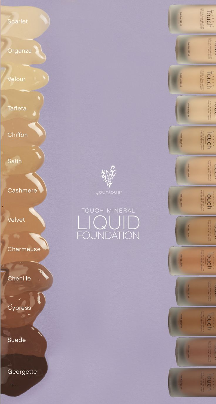 Be #filterfree with our Younique Touch Mineral Liquid Foundation, available in 13 shades!