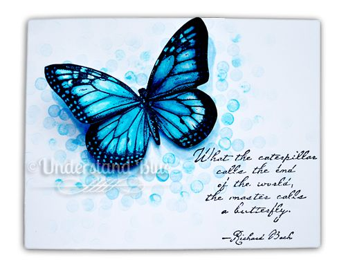 Blue Butterfly love: Blue Butterfly, Butterfly Cards, 1Cards Stamping Scrapbooking, Cards Butterflies, Cards Paper, Card Ideas, Card Making, Paper Crafts