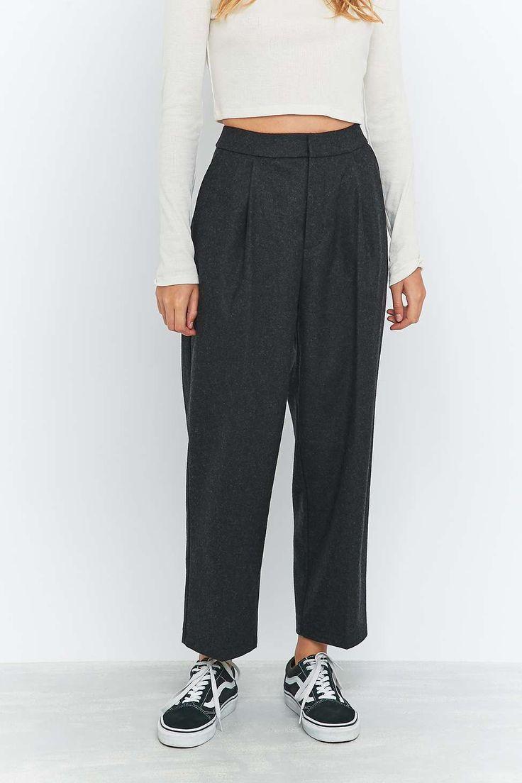 Light Before Dark - Pantalon large en flanelle grise