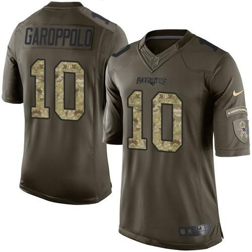Nike Patriots #10 Jimmy Garoppolo Green Men's Stitched NFL Limited Salute to Service Jersey