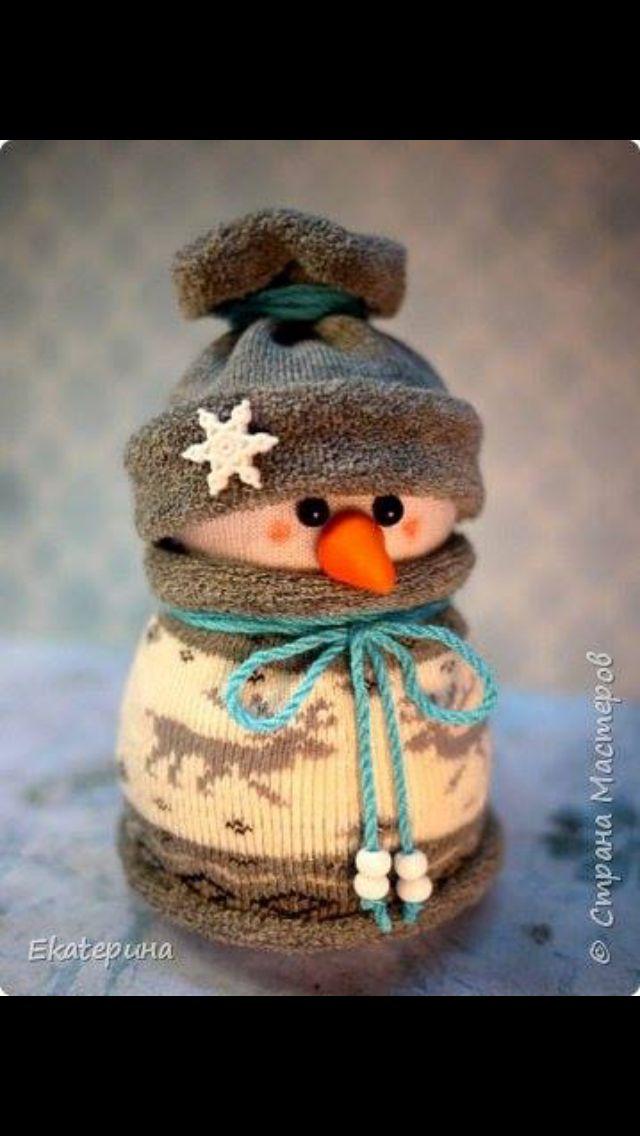 Exemple 4 de Bonhomme de neige avec chaussette