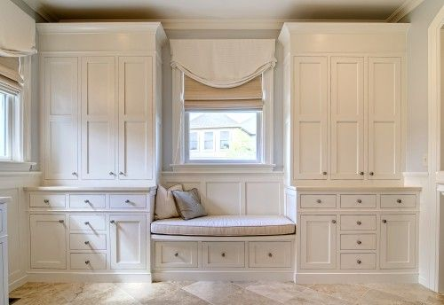 I would even be open to having built ins for the master closet/dressing area.  Less furniture to move upstairs.