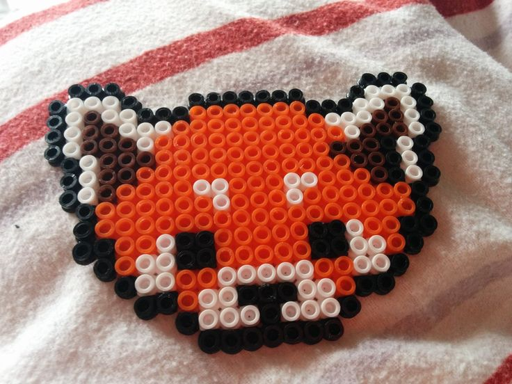 Red Panda face perler bead