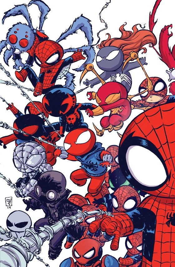 Skottie Young: Superior Spider-Man Vol. 1 #32 baby variant cover