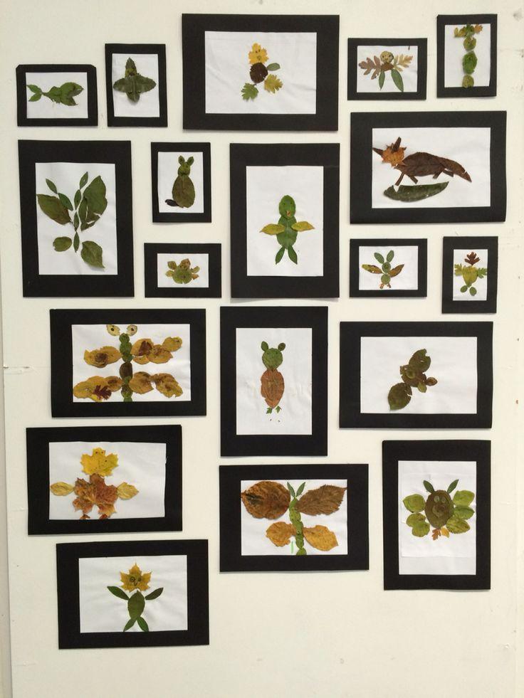 1.a arbejder med efterårsblade.