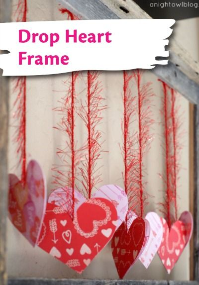 Show them you love their creative spirit by helping them make this cool DIY Drop Heart Frame for Valentine's Day. | holiday kids crafts