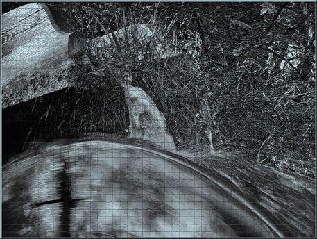 """'Wandkacheln """"Wassermühle"""" monochrom' von Rudolf Büttner bei artflakes.com als Poster oder Kunstdruck $18.03"""