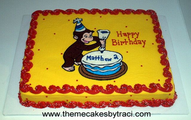 Curious George Birthday Cake Design Party Ideas