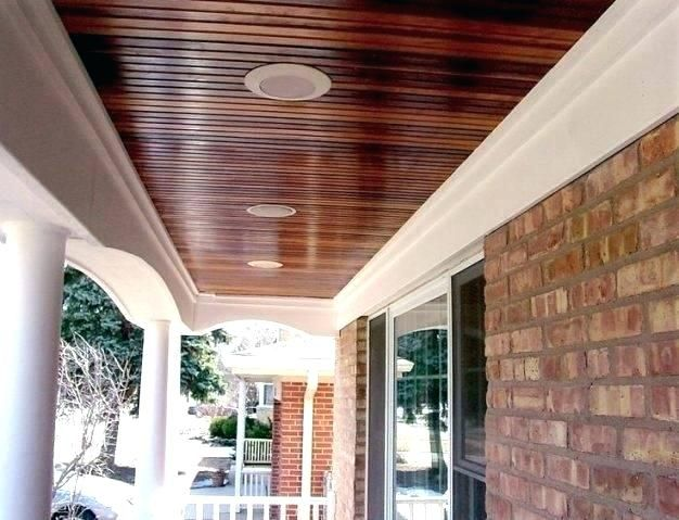 Porch Ceiling Front 2 Tongue And Groove Stained Beadboard Cost Porch Ceiling Patio Ceiling Ideas Wooden Garage Doors