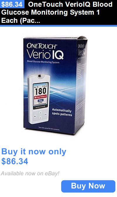 Glucose Monitors: Onetouch Verioiq Blood Glucose Monitoring System 1 Each (Pack Of 3) BUY IT NOW ONLY: $86.34