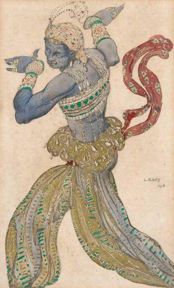 Costume design by Leon Bakst for Scheherazade, 1910