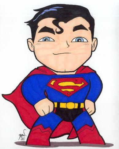 Chibi-Superman 2. by hedbonstudios.deviantart.com on @deviantART