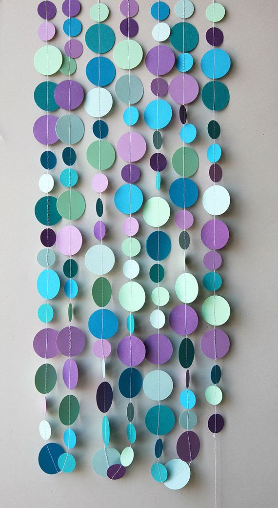 Bubbles party decoration. Hang on wall straight, swag or use as a table runner