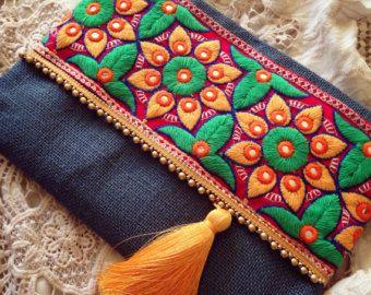 Fashion Clutch Bohemian Bag Evening Clutch by BOHOCHICBYDAMLA