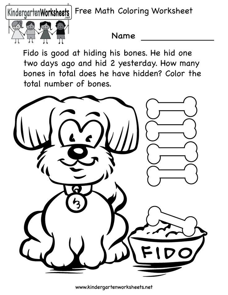 worksheets math coloring worksheet free kindergarten learning worksheet for - Color Worksheets Kindergarten