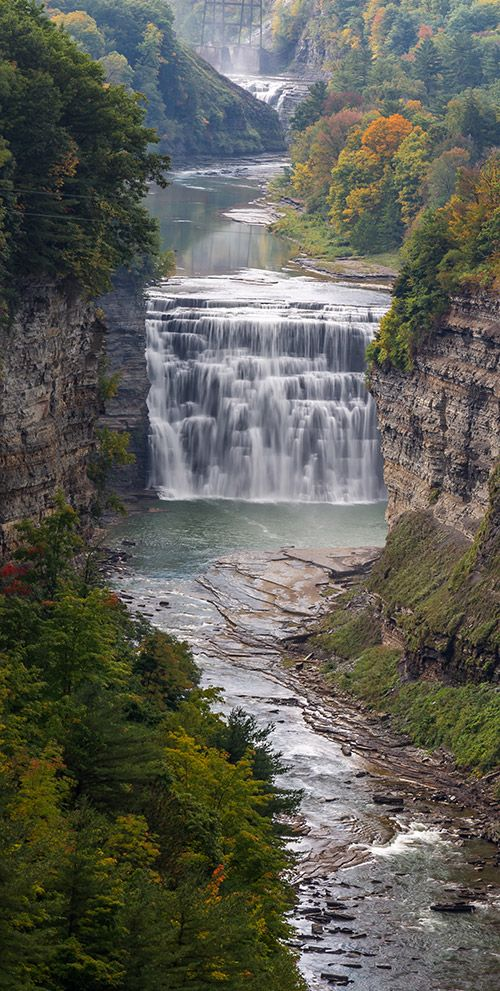 Middle Falls at Letchworth State Park, photographed from Inspiration Point