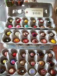 Egg carton ring display