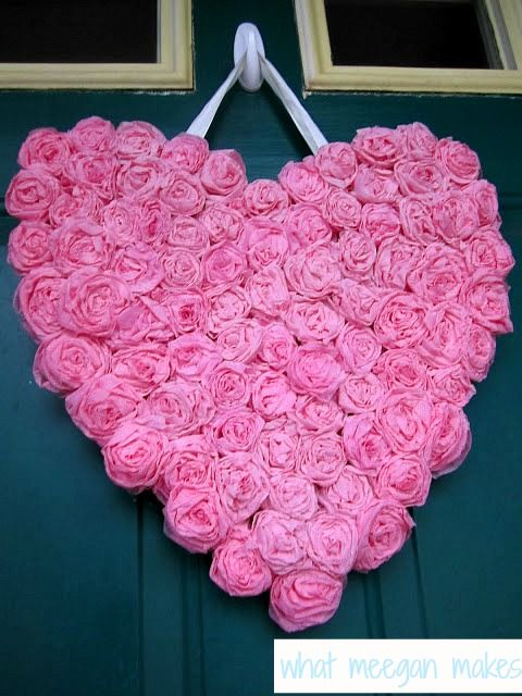 Easy Rosette Heart from the fabulous What Meegan Makes via Hometalk
