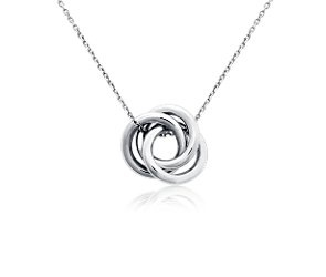 Love Knot Pendant in Platinum #BlueNile: Platinum Bluenile Put