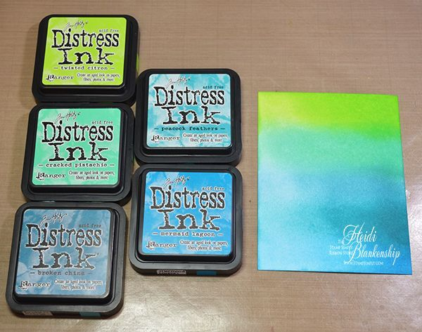 Embellished Dreams: The Stamp Simply Ribbon Store - Happy Birthday Water Droplet Ombre Card with Distress Inks