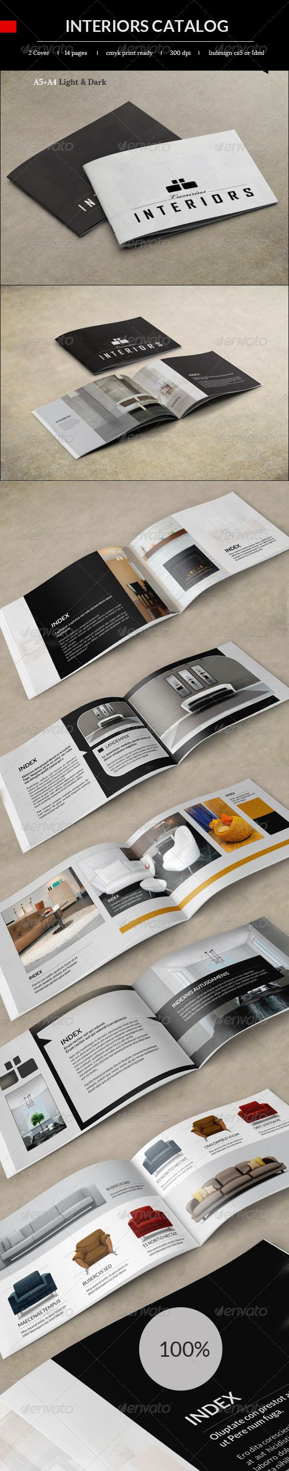 Visual Research for TSAOA Redesign. Interiors Booklet Catalog  #GraphicRiver         14 Pages 210×148mm with bleed lines 300 DPI CMYK Print Ready idml and .indd files included  The fonts used are free.