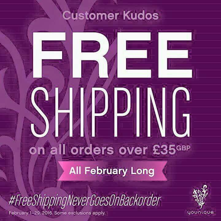 Buy your makeup now free shipping Feb  only! www.youniqueproducts.com/beautifulmakeupglobal
