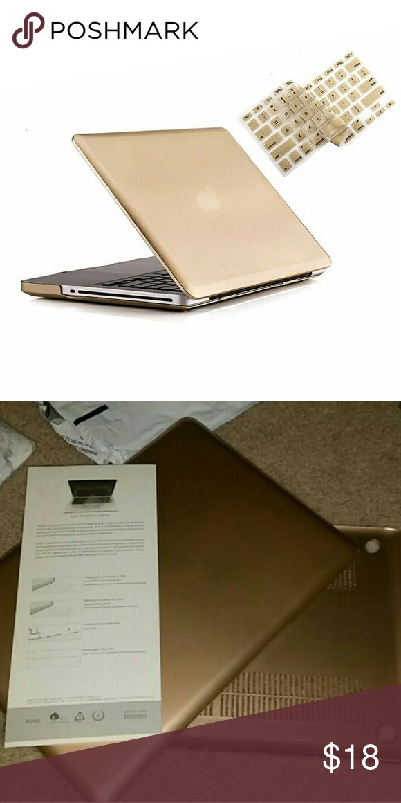 """Macbook Pro 15 Case New MacBook Pro Case with free gold keyboard cover. Pro 15-inch with CD-ROM 2 in 1 Hard Case Cover and Keyboard Cover for Macbook Pro 15"""" A1286 (Case Not for Retina Display) - Gold WARNING:This case can't fit Macbook Pro 15"""" with Retina Display NO CD BUY 2 & get 1 FREE SALE Buy any 2 items that cost $10 and up in my list and you can get 1 FREE item in my list anything that cost $9 or below Accessories Laptop Cases"""