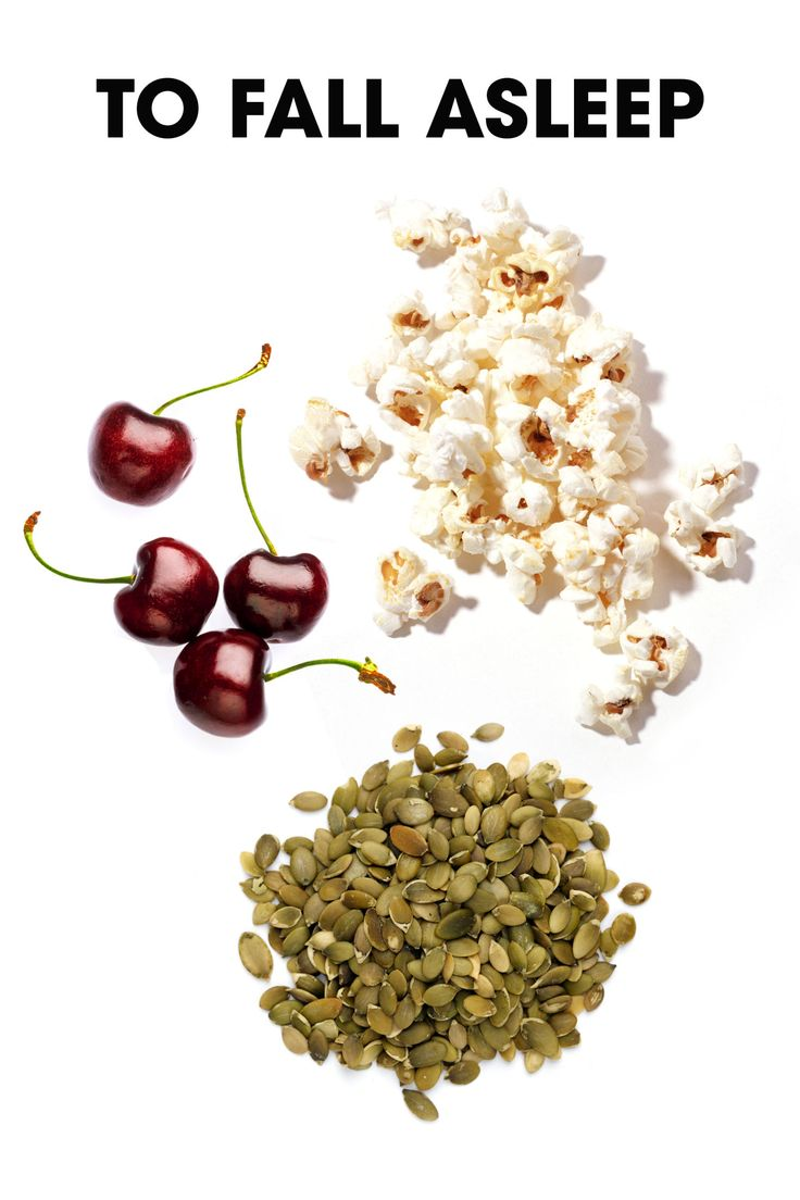 """CHERRIES are rich in melatonin that help induce sleep to a moderate degree. PUMPKIN SEEDS are rich in magnesium which helps to induce a deeper sleep by relaxing the muscles in the body,"""" she says.   POPCORN is high in serotonin, the chemical responsible for regulating our sleep cycle"""""""
