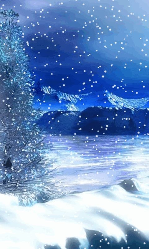 Download Animated 480x800 171 Blue Winter 187 Cell Phone