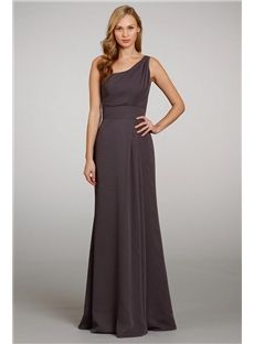 Romantic Chic Classy Floor Length One Shoulder Bridesmaid Gowns Online