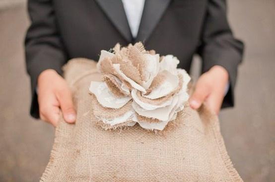 Burlap Ring Bearer Tutorial! ~ DIY Burlap Wedding Inspiration