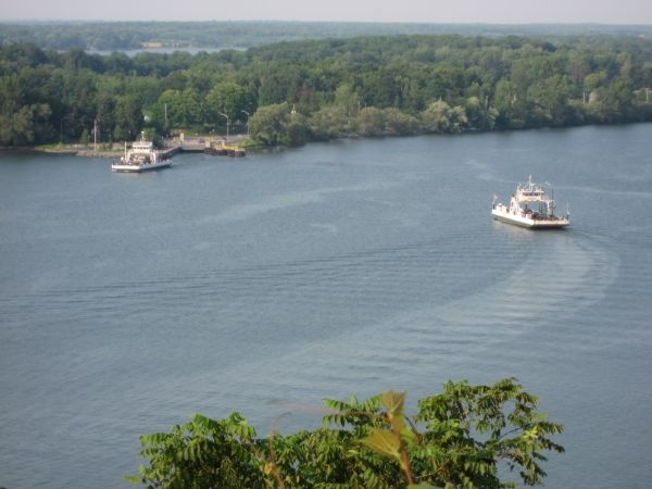 The Glenora Ferry will take you across Adolphus Reach to the Prince Edward County.