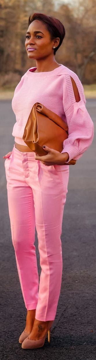 Think #Pink by The Daileigh. Love everything about this outfit especially the pants
