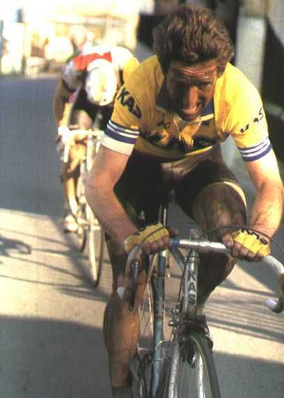 Sean Kelly on his way to victory at La Primavera - Milan San Remo 1986