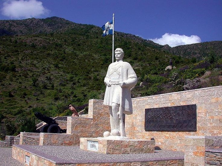 MAKEDONOMAXOI - Statue of Macedonian Freedom fighter historical #Macedonia northern Greece