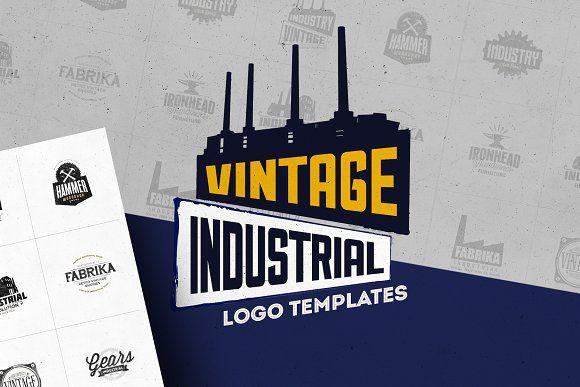 Industrial Logo Templates Logo Templates Industry Logo Vintage Logo Design