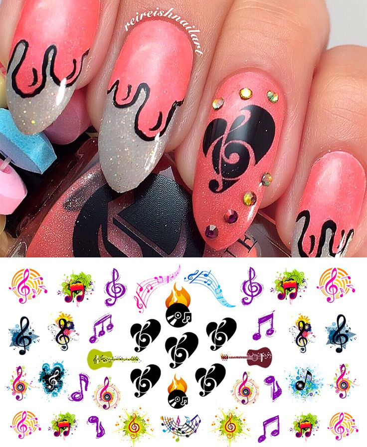 8 best sheet music nail art decals images on pinterest music sheet music notes robot music nails decals amazon water check beauty nail art prinsesfo Images