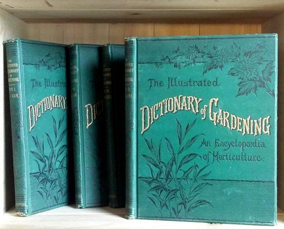 Illustrated Dictionary Of Gardening 1887 Antique Book Set 7 Volumes Illustrated In Color And Black And Whit Antique Books Black And White Illustration Antiques