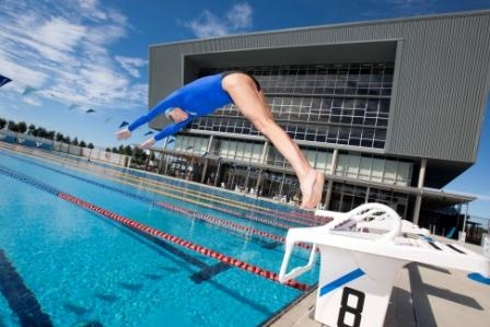 An Olympic-standard swimming pool is located in USC's sports precinct. The 10-lane, 50-metre pool is heated to cater for year-round use by USC students, staff and the wider community. The pool is adjacent to USC's Health and Sports Centre, Sports Stadium and Athletics Track.